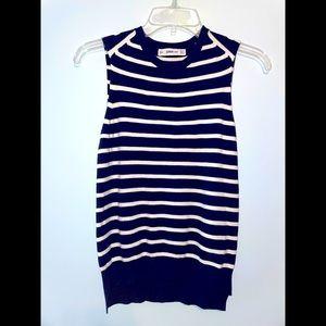 Zara Knit Sleeveless Top Small Blue White Striped